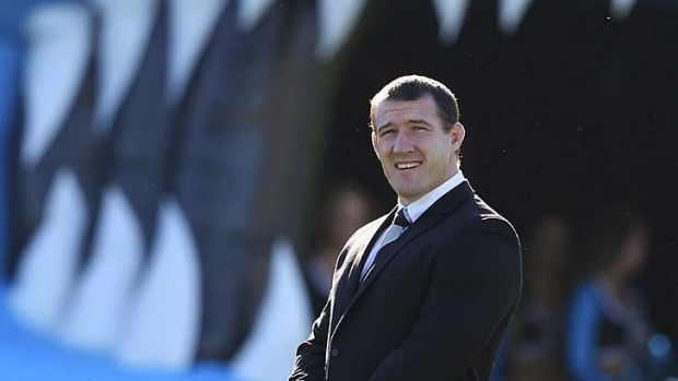 Return ... captain Paul Gallen has had to watch from the sideline as his Sharks struggled.  He makes a comeback today ...