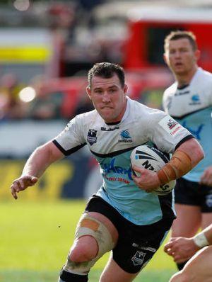 Powerhouse ... Sharks skipper Paul Gallen returned from injury in style.