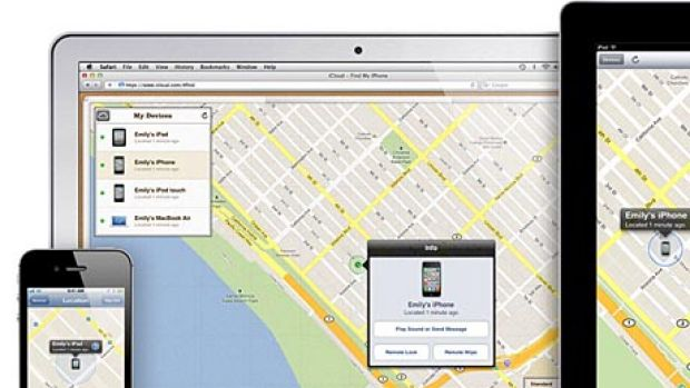 Apple's 'find my iPhone' feature allows users to track the location of a lost mobile device.