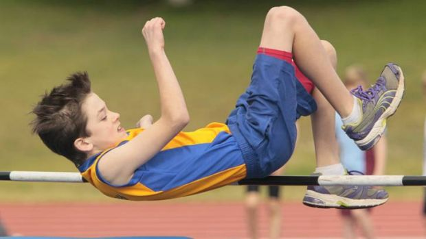 Central Wollongong Primary Schools Athletics Carnival. Tate Harland Yr3 of Lindsay Park primary school in the boys high jump.