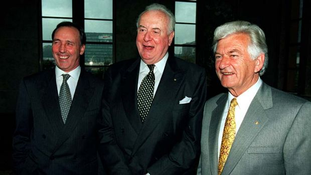 """""""The essential problem with Labour since its election in November 2007 is that it is more like Whitlam [centre] than ..."""