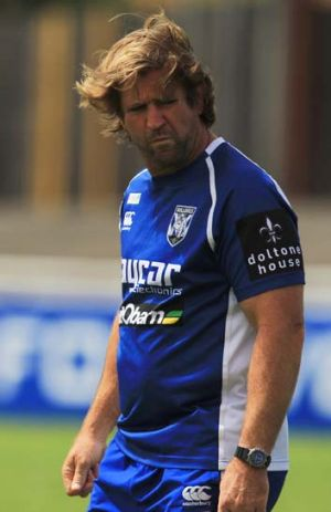 Fined ... Bulldogs coach Des Hasler.