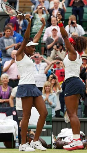 """""""We've been winning this title since 2000 but it's easier said than done"""" ... Venus Williams, left."""