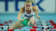 ISTANBUL, TURKEY - MARCH 09:  Sally Pearson of Australia competes in the Women's 60 Metres Hurdles first round during ...