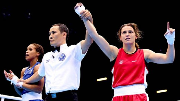 Fighting Irish … Katie Taylor.