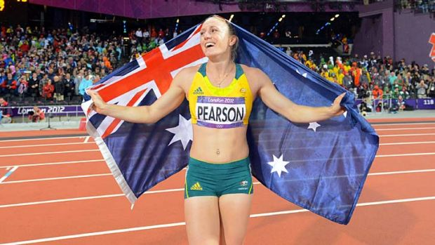 Rose to the occasion ... Sally Pearson.