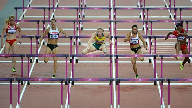 Powered through for victory ... Sally Pearson.