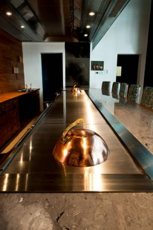 A private dining room at Waku Ghin, Tetsuya's luxe venture in Singapore.