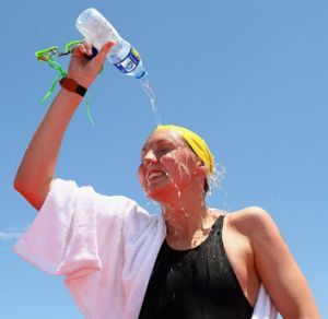 Open-water swimmer Melissa Gorman still winces at the thought of her first 10 kilometre event.