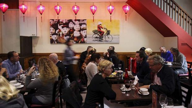 Bustling ... the rise of Vietnamese continues at Bay Tinh.