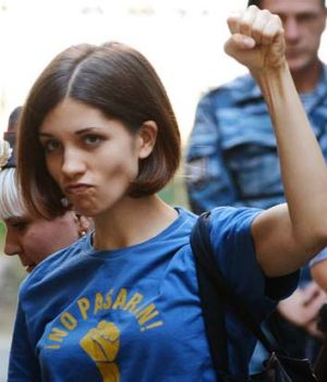 Member of female punk band Pussy Riot Nadezhda Tolokonnikova.