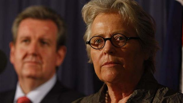 NSW at a turning point ... Premier Barry O'Farrell (left) and former Treasury official Kerry Schott (right).