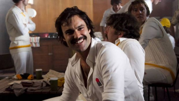 Canberra actor Matt Le Nevez as Dennis Lillee in the Howzat mini-series.