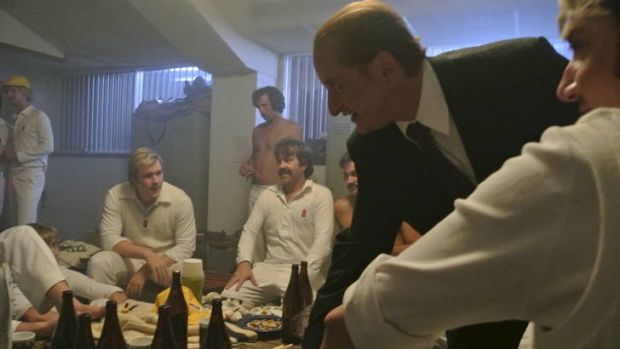 Lachy Hume as Kerry Packer in scene from the TV drama Howzat: Kerry Packer?s War.
