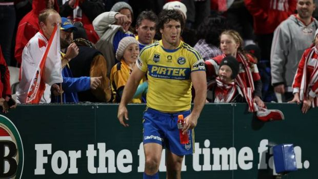 Big influence ... Nathan Hindmarsh admits that he owes a lot to Brian Smith.