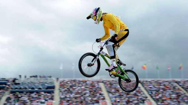 'No one is holding back' ... Lauren Reynolds in action at the Olympics.