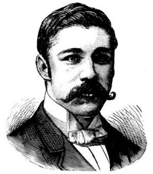 Fergus Hume, writer of the 1886 thriller, <i>The Mystery of the Hanson Cab</i>.
