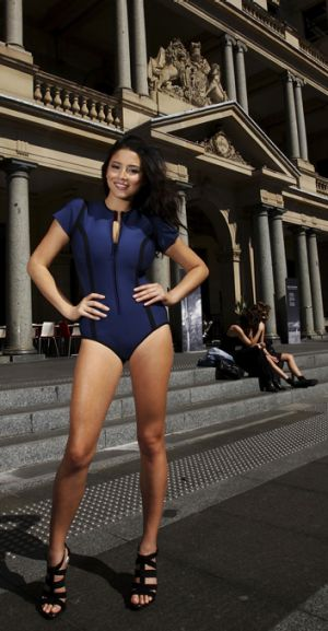 In the swim ... Jessica Gomes poses in Sydney.
