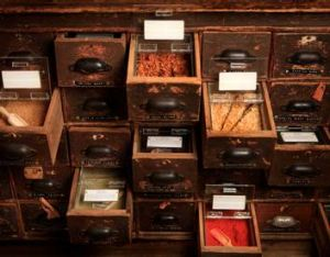 Spice drawers at Gewurzhaus.