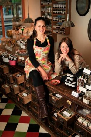 Maria Konecsny (left), with sister Eva at Gewurzhaus, says spices and herbs are all about balance.