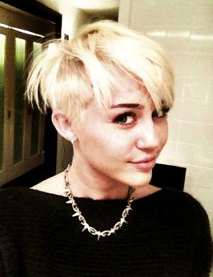 Miley Cyrus sports a daring new hairdo.