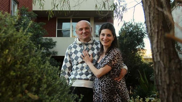 Perfect choice ... Maria Andreeva and husband, Yuri Nosach, outside one of their investment properties in Bronte.