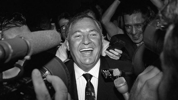 Alan Bond, pictured in 1995.