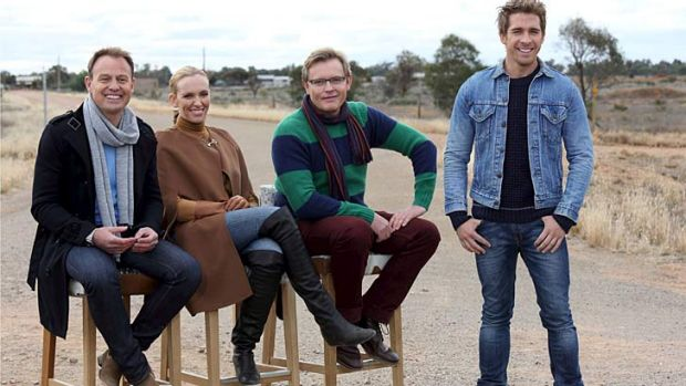 Judging outback style. From left: Jason Donovan, Toni Collette, Stephen Elliot and Hugh Sheridan, <i>I Will Survive</i>.