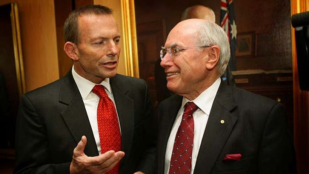 John Howard's recent comments have prompted Tony Abbott to dismiss his relevance.