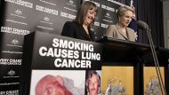 Attorney General Nicola Roxon and Health minister Tanya Plibersek respond to the High Court decision on the plain ...