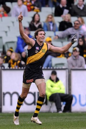 Former Tigers key forward Matthew Richardson was always a match-day drawcard.