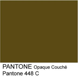 Pantone 448C: The murky hue was chosen for its lack of appeal to smokers.