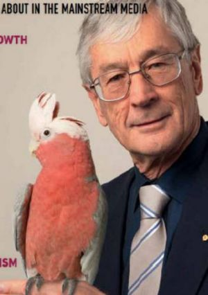 Dick Smith on the cover of his magazine <i>Forbidden Ideas</i>.