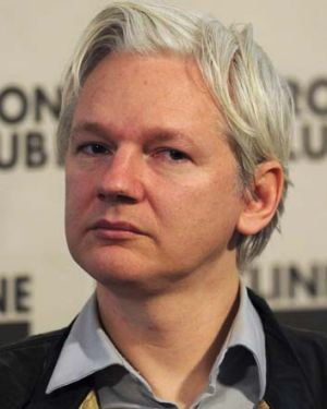 Wanted man ... the WikiLeaks founder Julian Assange.