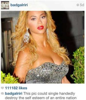 Rihanna tweeting her support for Beyonce and making us mere mortals feel like mere mortals.