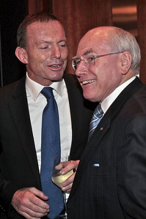 "'A world-class leadership team"" ... Tony Abbott and John Howard."