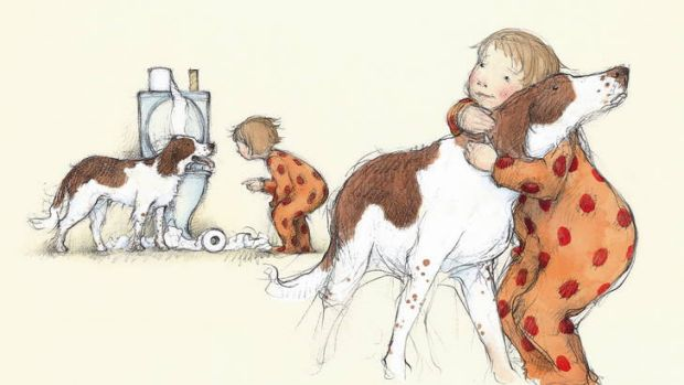An illustration taken from <i>The Runaway Hug</i> by Nick Bland and Freya Blackwood.