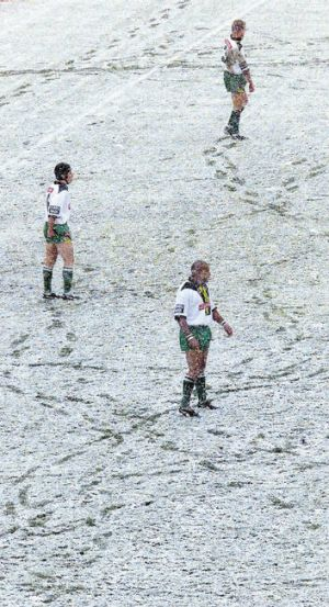 The Raiders famously took on Wests Tigers at Canberra Stadium in these conditions in May 2000.