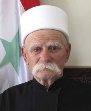 Old guard ... farmer Salman al-Maqet supports the Assad regime in a town where students are protesting.