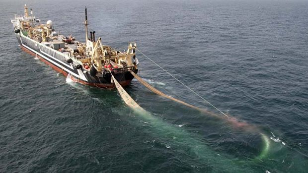 The Margiris super-trawler, which left Australia in March, has been tracked down in the South Pacific.