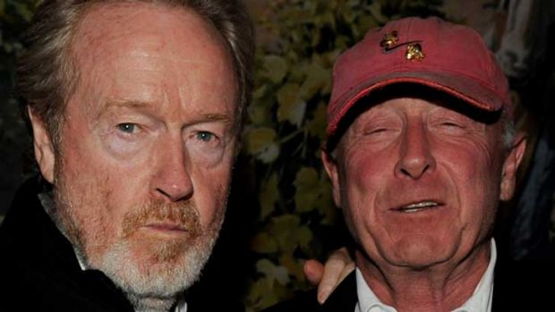 Ridley Scott, left, with brother Tony.