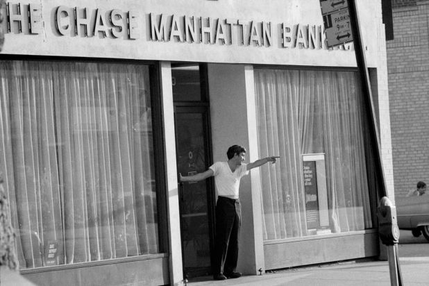 John Wojtowicz, left, who with Salvatore Natuarale took bank employees hostage during the ''Dog day Afternoon'' bank ...