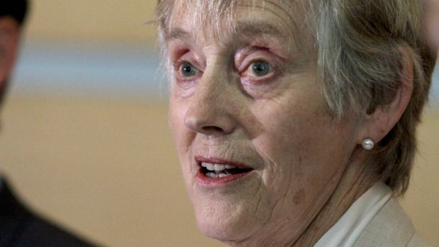Former head of the MI5, Dame Stella Rimington, talks to the media in Brisbane at the International Council on Archives ...