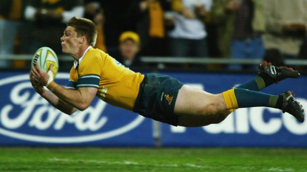 Clyde Rathbone in his prime for the Wallabies.