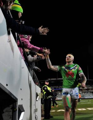 Josh Dugan thanks the fans.