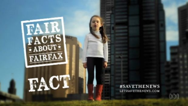 The Ad number 1 final shot, save Fairfax for the children ... Gruen Planet