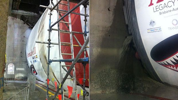 The tunnel boring machine used to deliver the $1.5 billion joint funded Legacy Way tunnel.