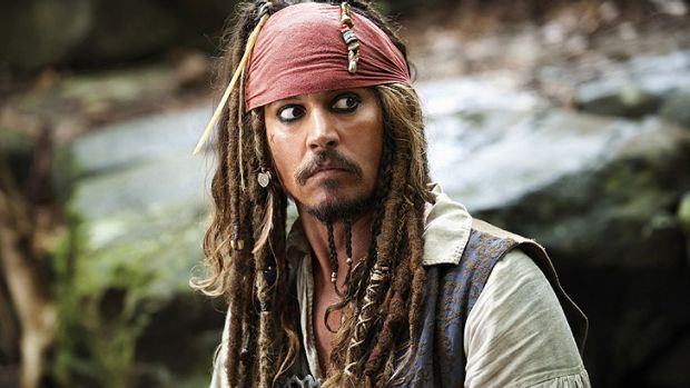 Johnny Depp as Captain Jack Sparrow in <i>Pirates of the Caribbean: On Stranger Tides</i>.