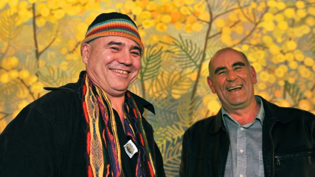 Mal McKimmie (left) took <i>The Age</i> poetry prize and James Boyce won book of the year for <i>1835: The Founding of ...