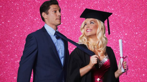 Legally Blonde the musical, starring Lucy Durack and Rob Mills.